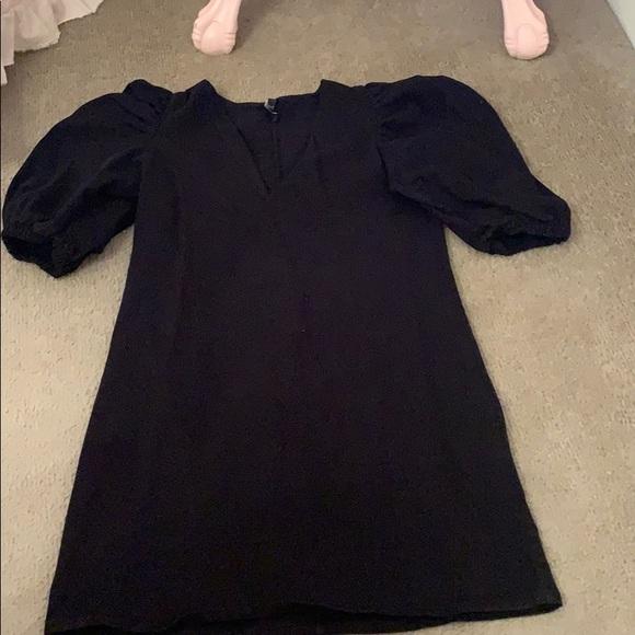 Zara Dresses & Skirts - Zara puff sleeve denim dress